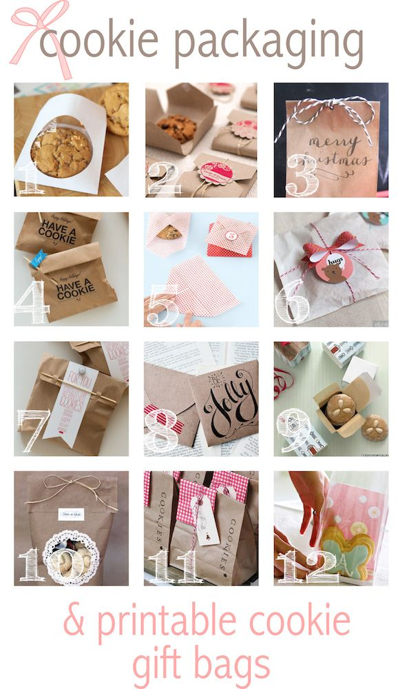Free printable cookie gift bags & packaging ideas - Keksverpackungen - round-up