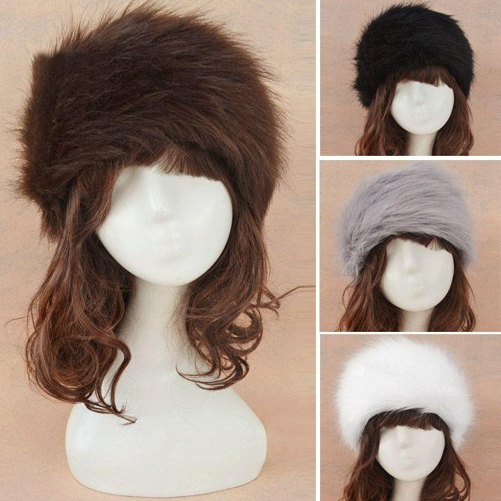 813b2a998 2015 NEW Hot Sale 5 Colors Faux Fur Headband Ear Warmer Winter Ski ...