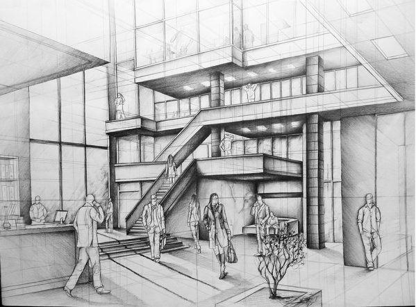 Interior Design And Architecture In Pencil Drawings Architecture Drawing Architecture Paris Architecture
