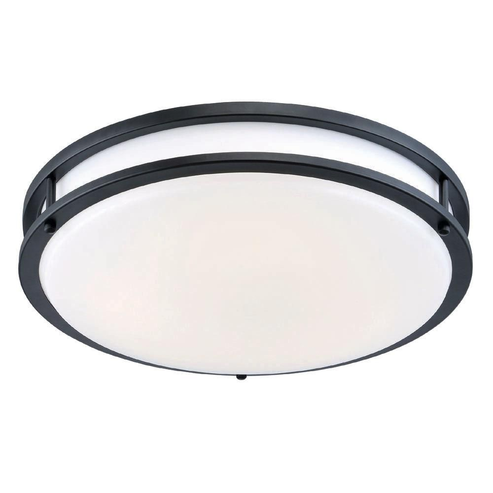 Envirolite 12 in oil rubbed bronze white low profile led ceiling