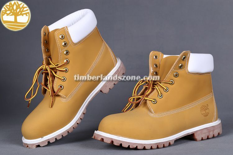 60901470cb624 Cheap Timberland Men's 6-Inch Boots In Wheat White Collar $ 83.99 ...
