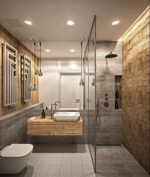 Ba o de moda con ducha 33 opciones de dise o ideas de for Disenos cuartos de bano con ducha