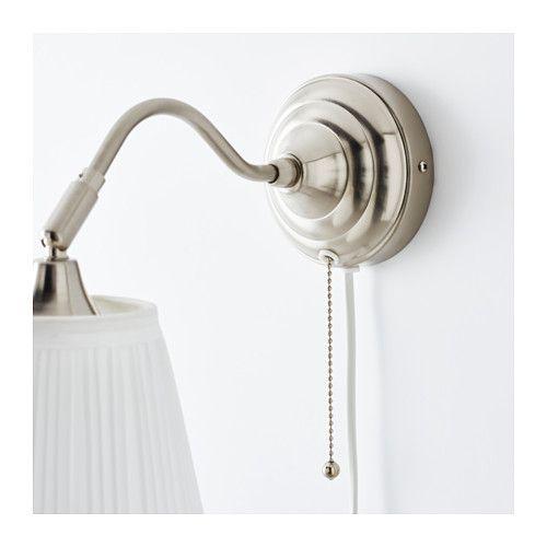 lampada da parete rstid nichelato bianco li lampade