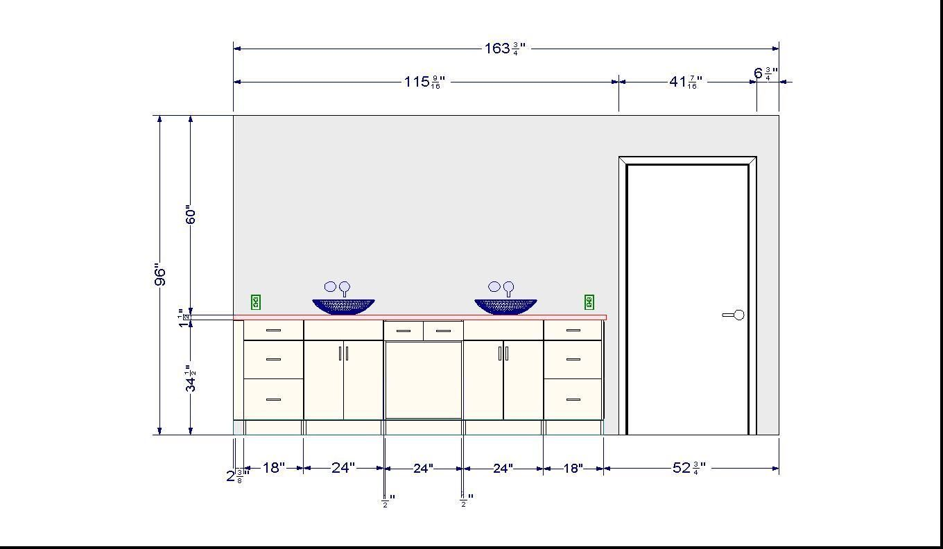 Ideas Proper Height For Bathroom Vanity With Vessel Sink ...