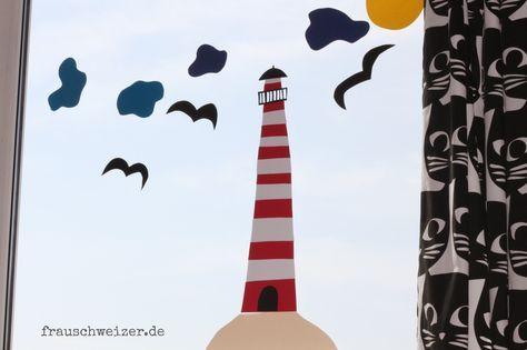 fensterbild Leuchtturm fiete anleitung