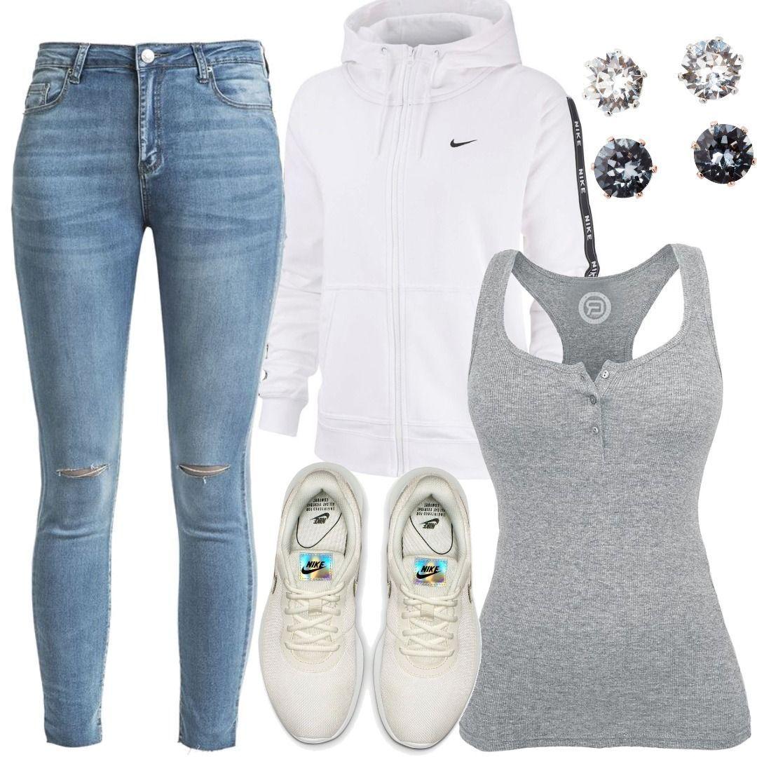 Celia Blau Sweatjacke Hailys Jeans Nike Nsw Damen Weiß Kuc3lF1JT5