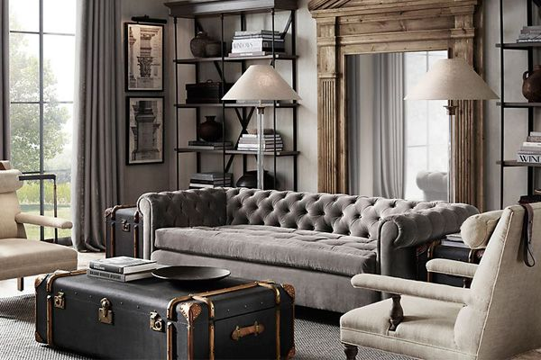 This Room Is Pretty Boring And Gray, But I Do Like The Couch Shape.       Rooms | Restoration Hardware | Living Room | Pinterest | Restoration  Hardware, ... Part 81