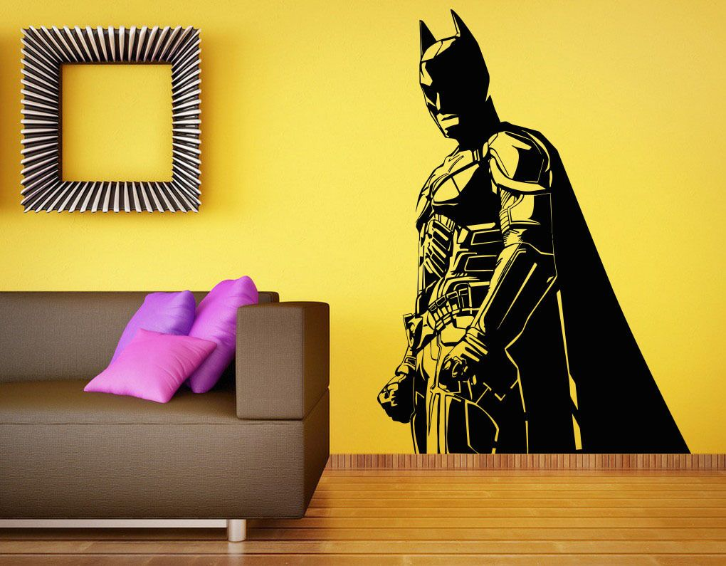 C180 Batman Wall Decal Vinyl Sticker The Dark Knight Superhero Atr ...