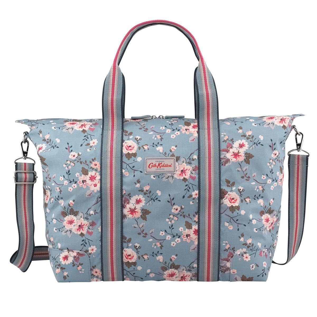 Trailing Rose Foldable Overnight Bag | Foldaway Bags | CathKidston ...