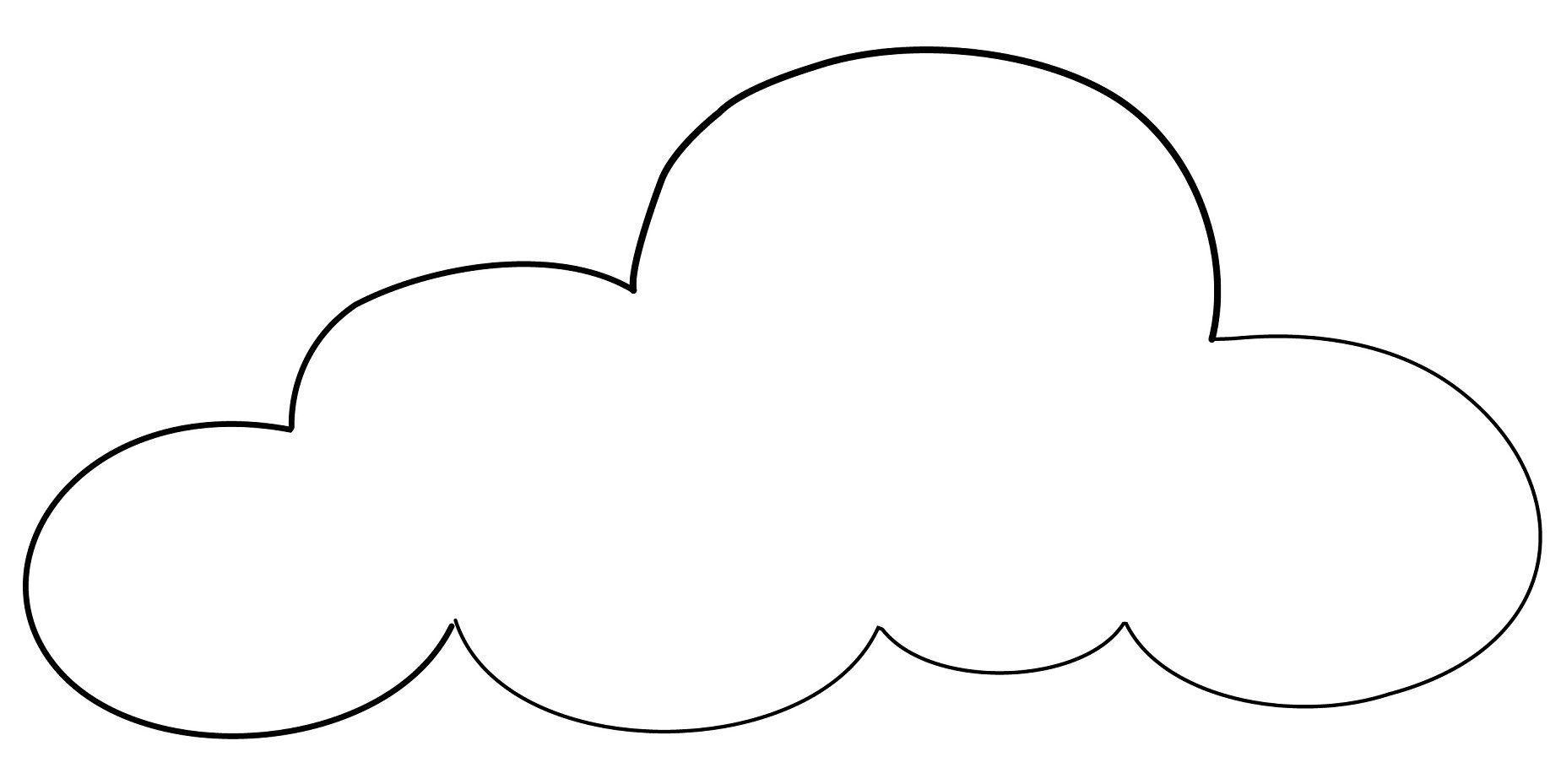 Cloud Shapes Coloring Pages
