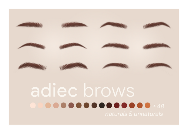 Photo of adiec brows // recolored | ajduckie on Patreon