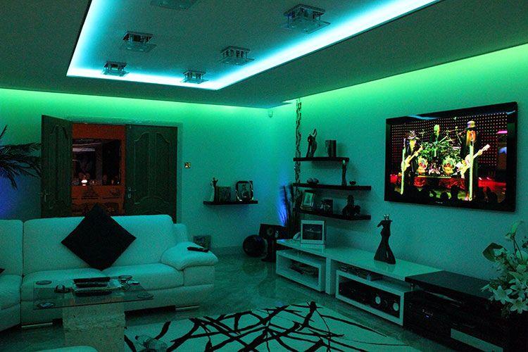 Iluminacion Led Rgb Sinapsis Controls Espacio Inteligente Cambia El Color De Una Estancia Strip Lighting Rooms For Girls Teenagers Vsco Led Strip Lighting