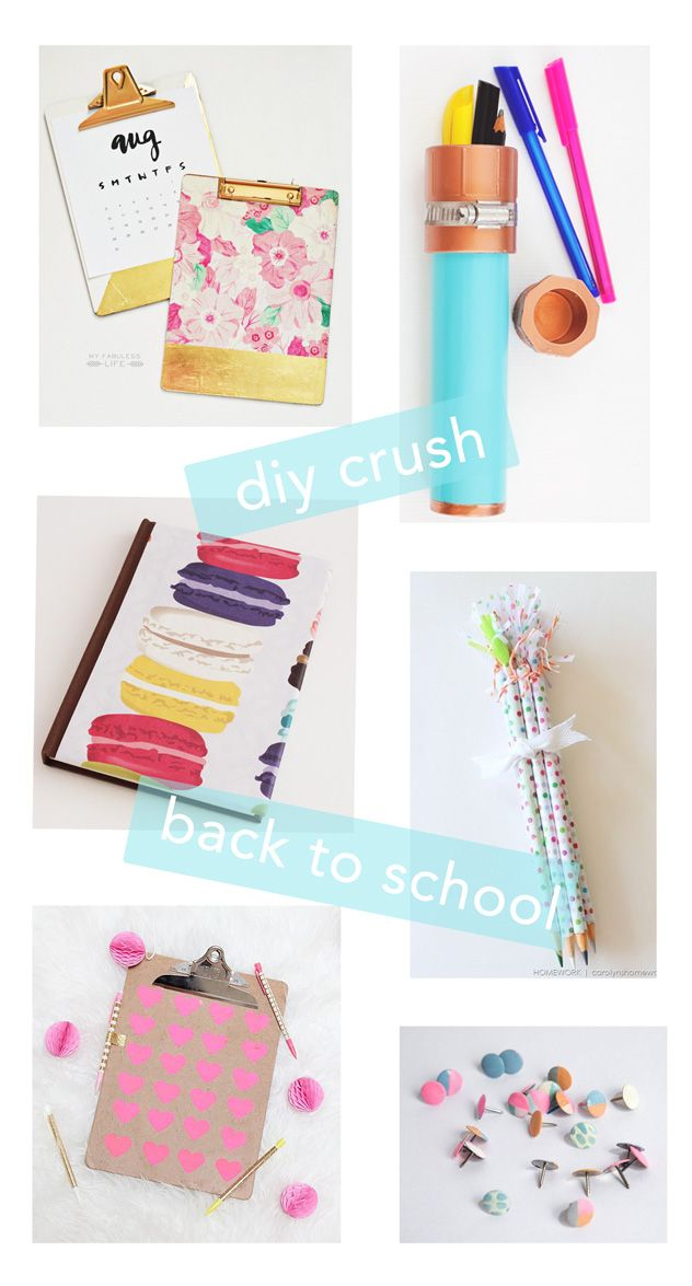 diy crush back to school supplies back to school style pinterest diy cole fourniture. Black Bedroom Furniture Sets. Home Design Ideas