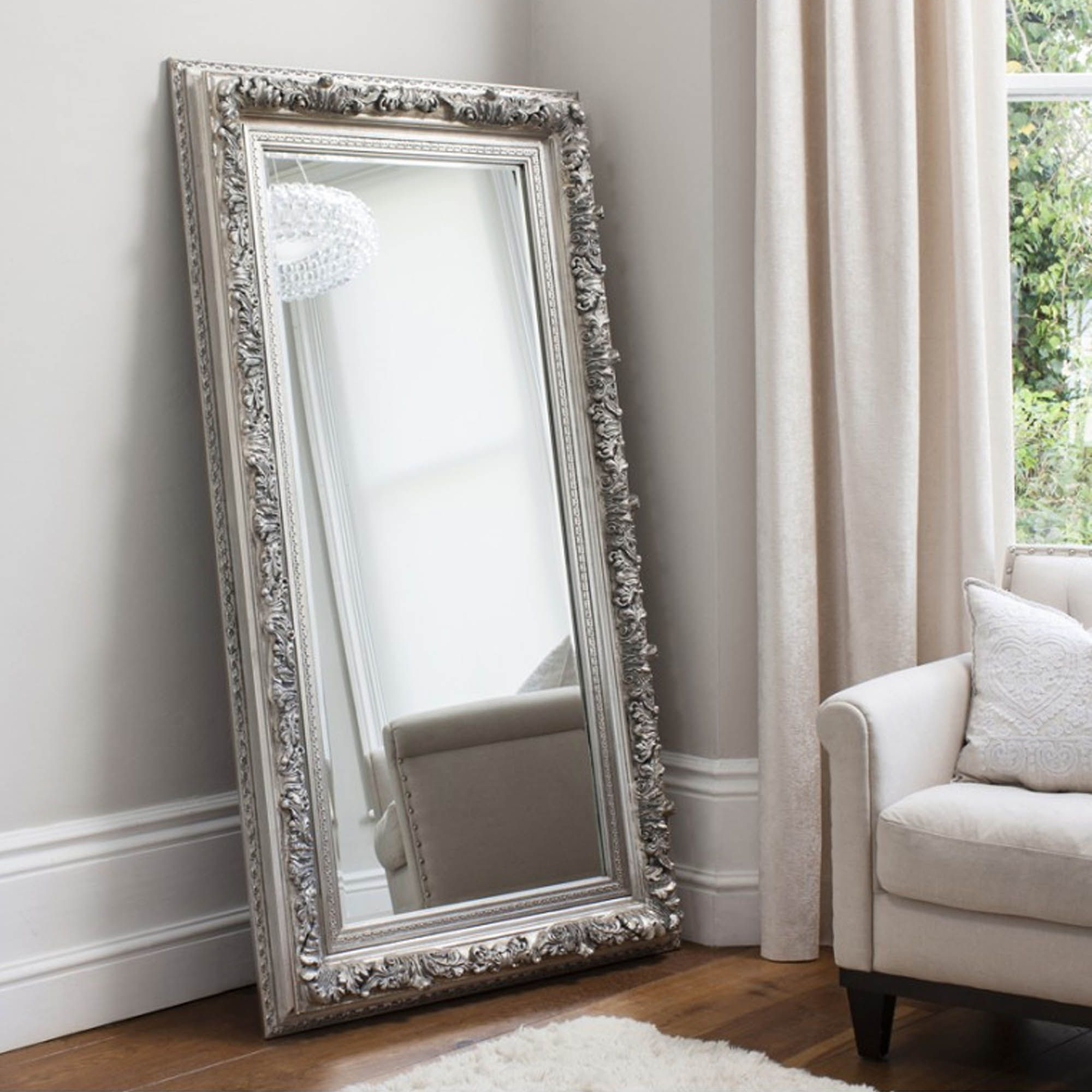 Floor Mirror | Silver gilded mirror | Pinterest | Floor mirror ...