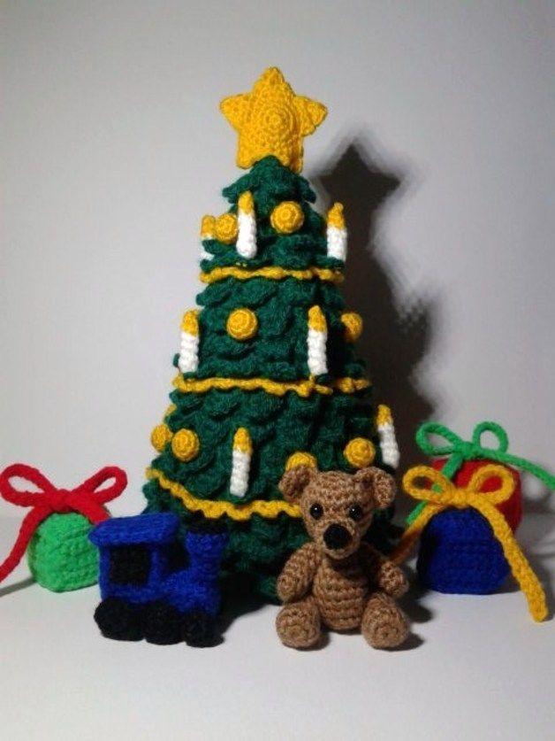 Pdf Häkelanleitung Großer Weihnachtsbaum Weihnachtsbaum Deko