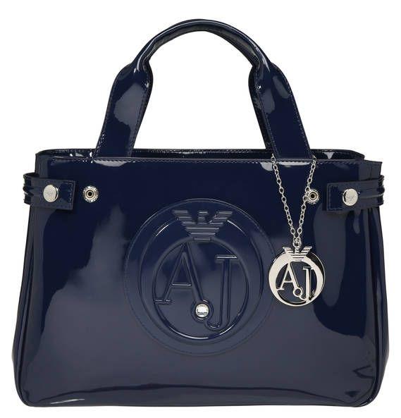 e2829f9e7f48 ARMANI JEANS Handtasche, Logo-Prägung, Lack-Optik blue   Lady s ...
