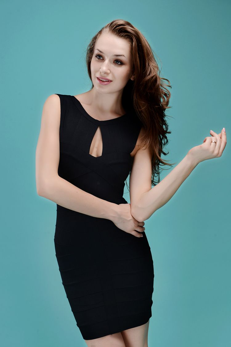 Starry Key hole Bandage Black Dress#dress #sexy #women #party ...