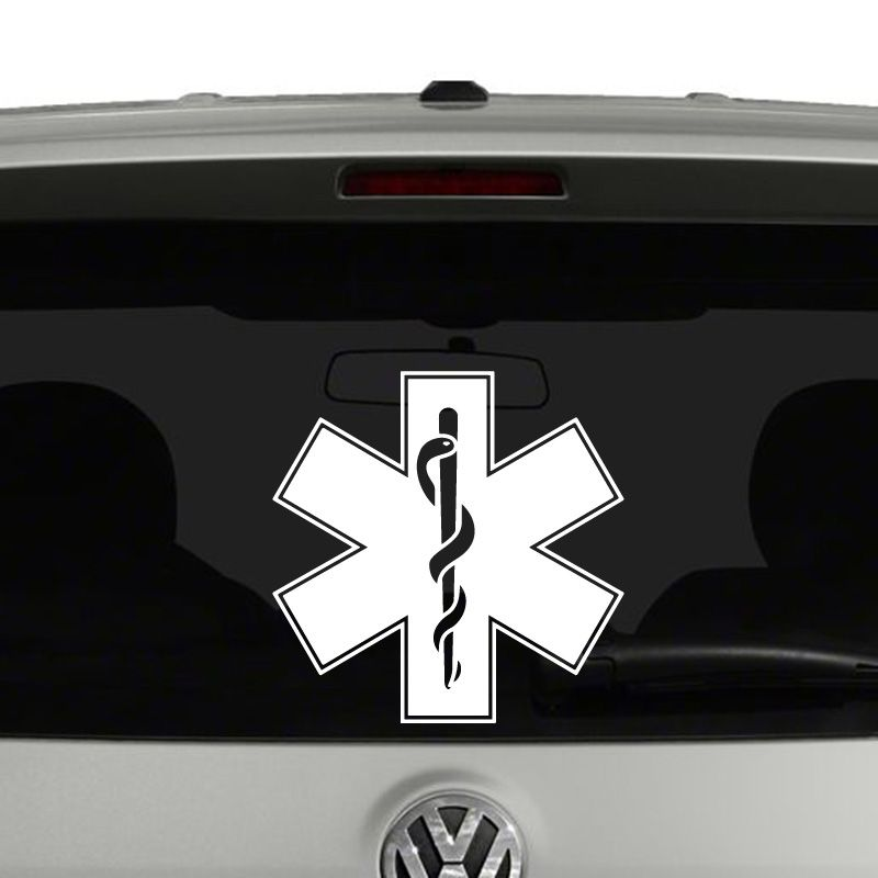 Ems Emergency Medical Services Symbol Vinyl Decal Sticker