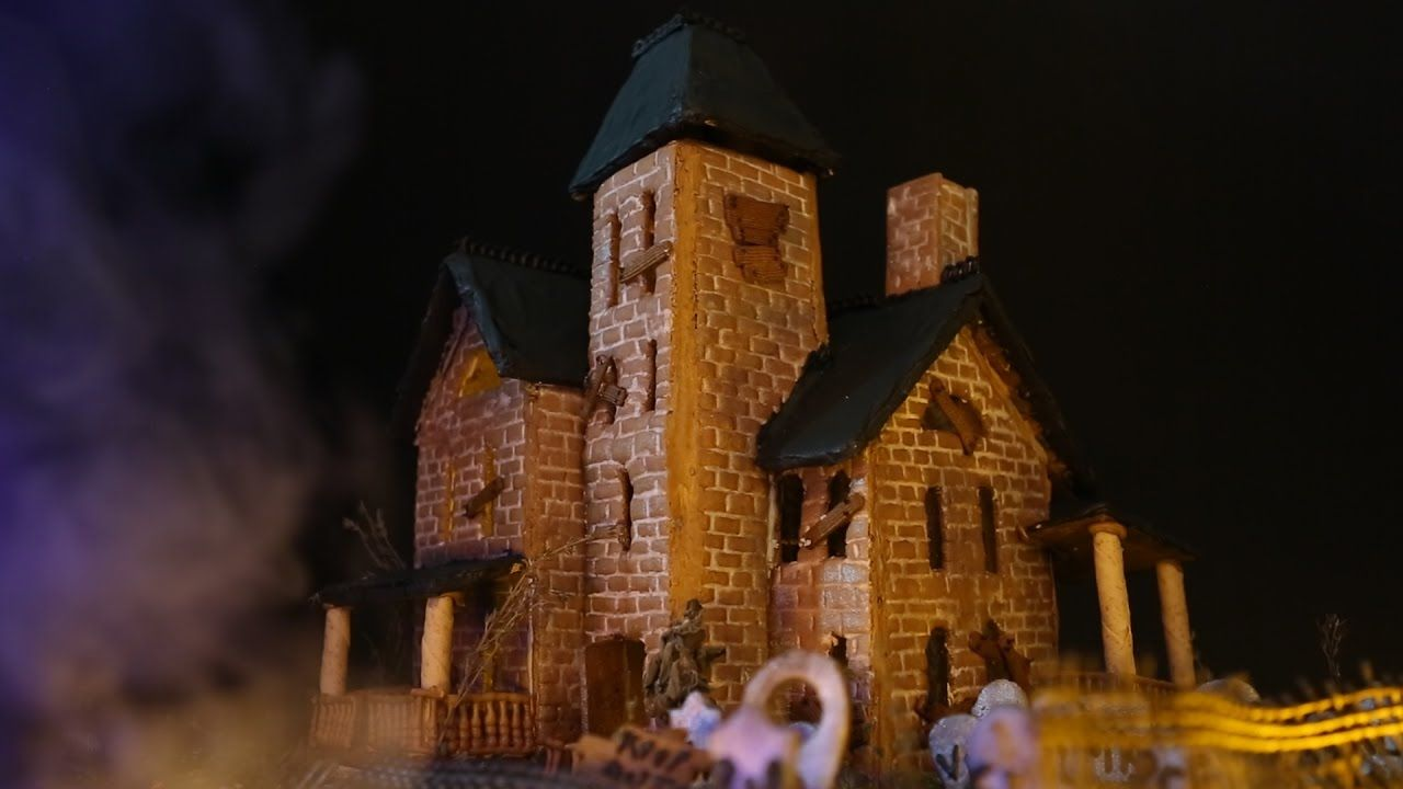 Serious Eats Presents Gingerdead Manor Halloween Gingerbread House Haunted Gingerbread House Horror House