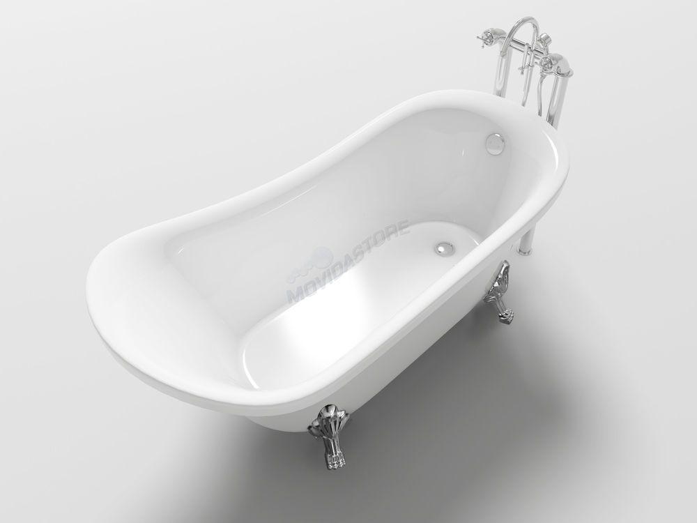 Vasca Da Bagno Piccola Con Piedini : Vasca da bagno impero freestanding vintage antica vasche con piedini