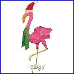 outdoor indoor christmas decoration 32 lighted flamingo holiday xmas - Christmas Flamingos Yard Decorations