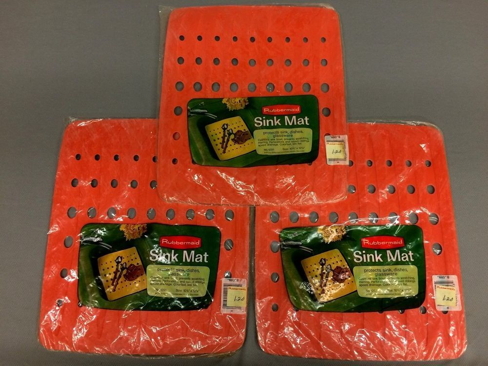 NEW! Vintage RUBBERMAID Lot 3 Sink Protector Mat - RETRO ...