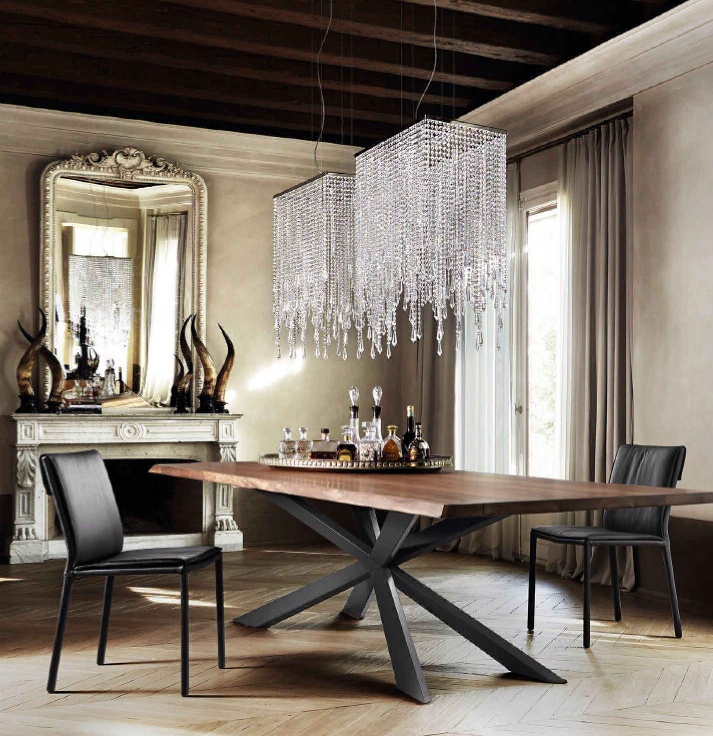 modern dining table design by Cattelan Italia aesthetic sculptural table Spider Wood 3 Dream Dining Room 3 Pinterest