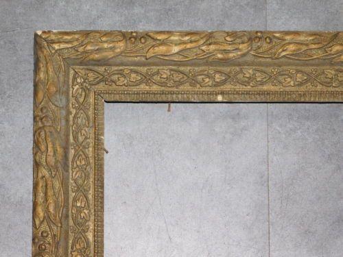 CADRE ANCIEN STYLE LOUIS XIII EN BOIS SCULPTE DE FEUILLES 43CMX50CM