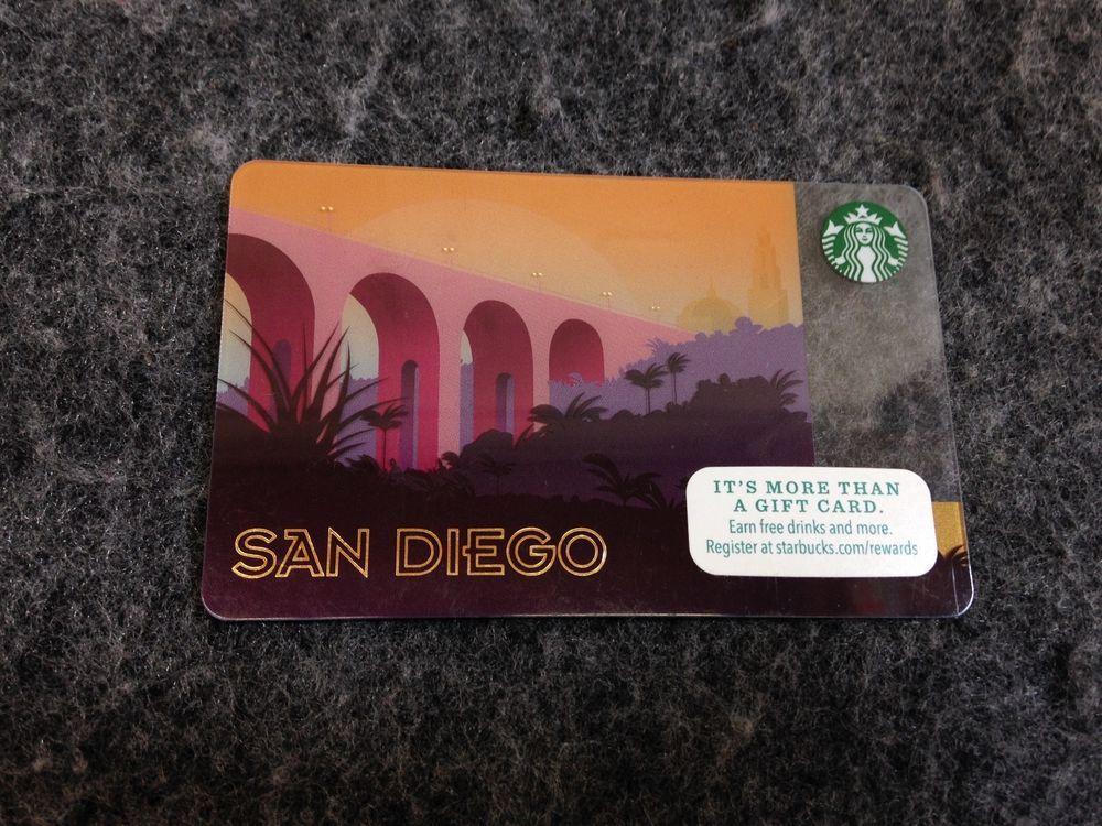 Starbucks San Diego Gift Card - San Diego Cabrillo Bridge - 2015 ...