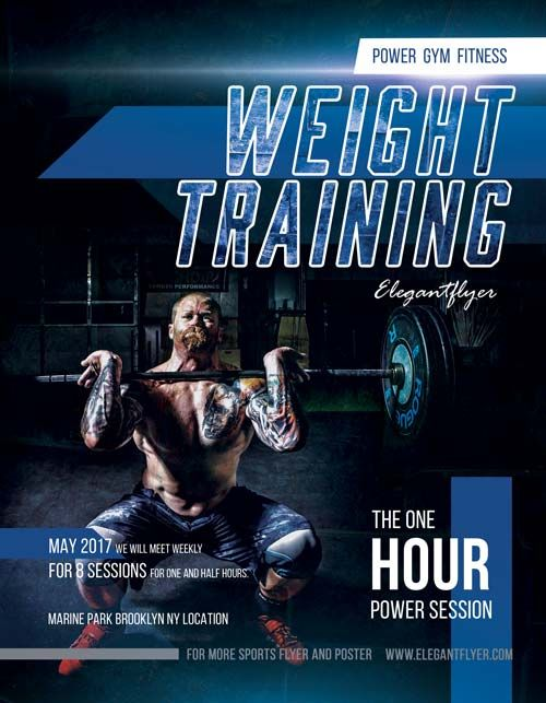 Weight Training Free Fitness Flyer Template Httpfreepsdflyer