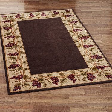 Bordeaux Border Area Rug With Images