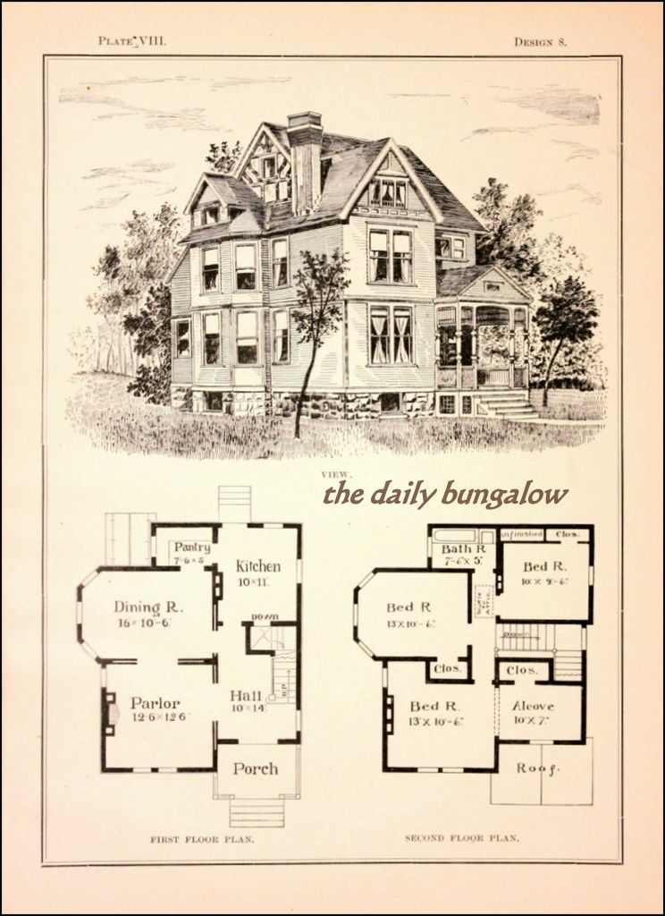 Modern Cottages J H Kirby Architect Architectural Floor Plans Vintage House Plans Cottage Floor Plans