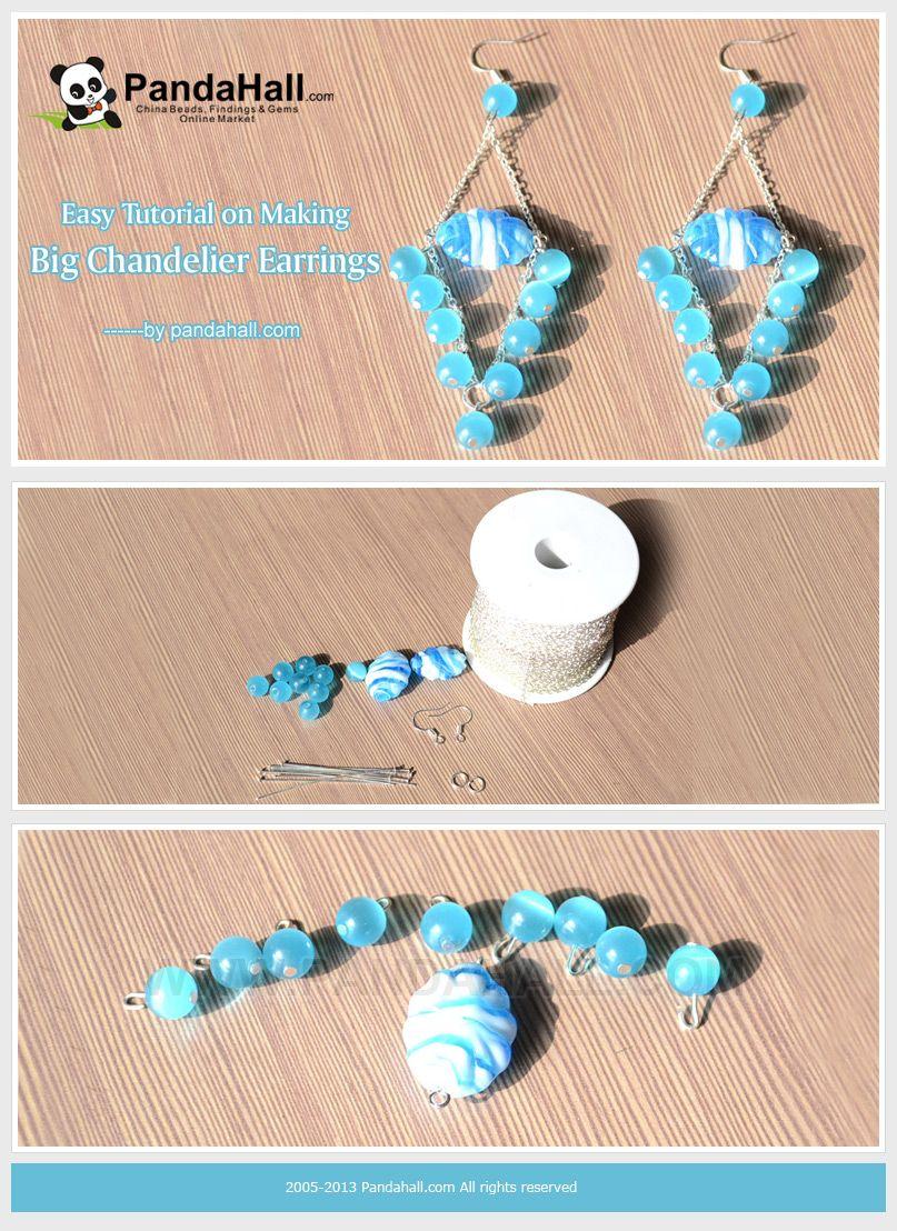 Easy Tutorial on Making Big Chandelier Earrings