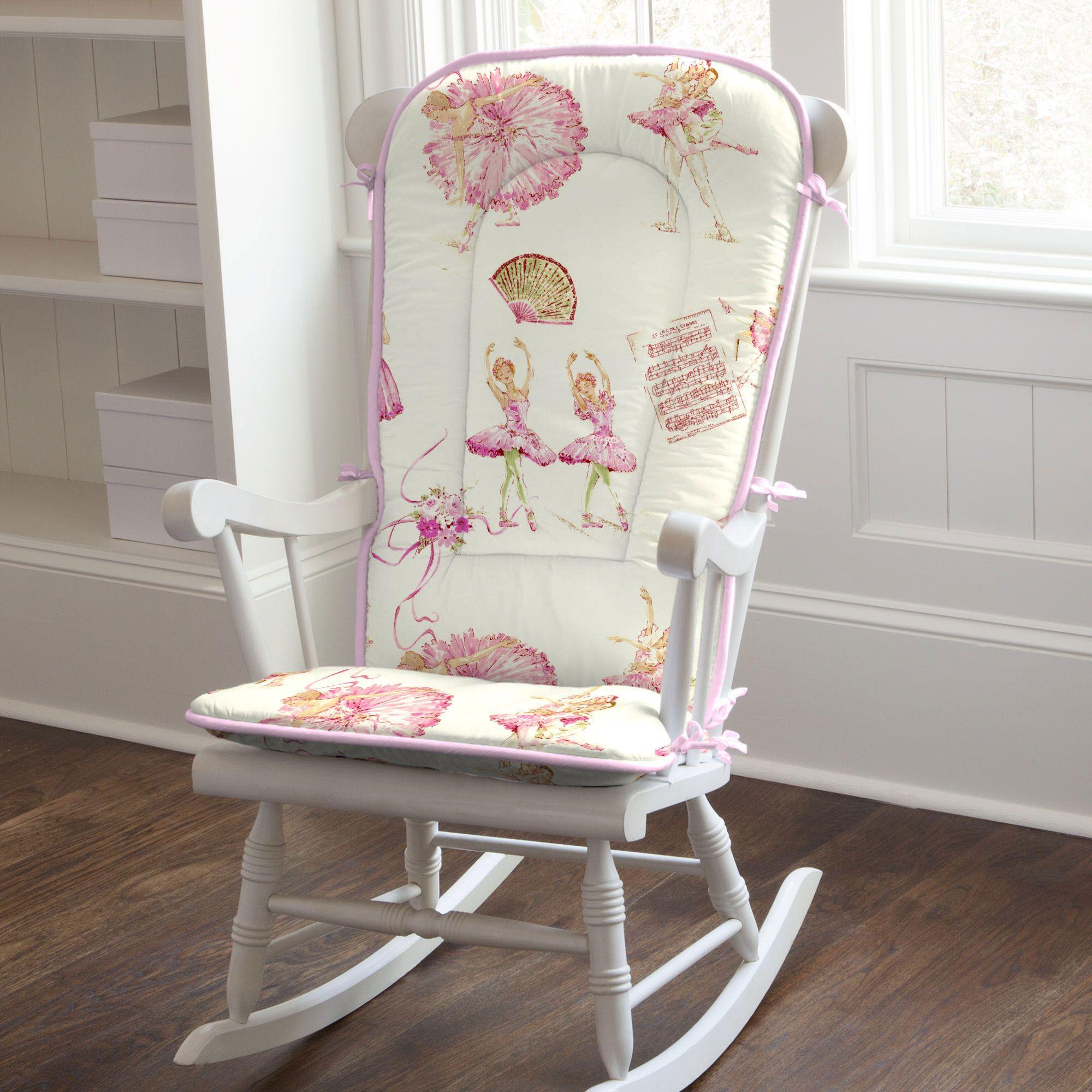 Royal Ballet Rocking Chair Pad carouseldesigns White