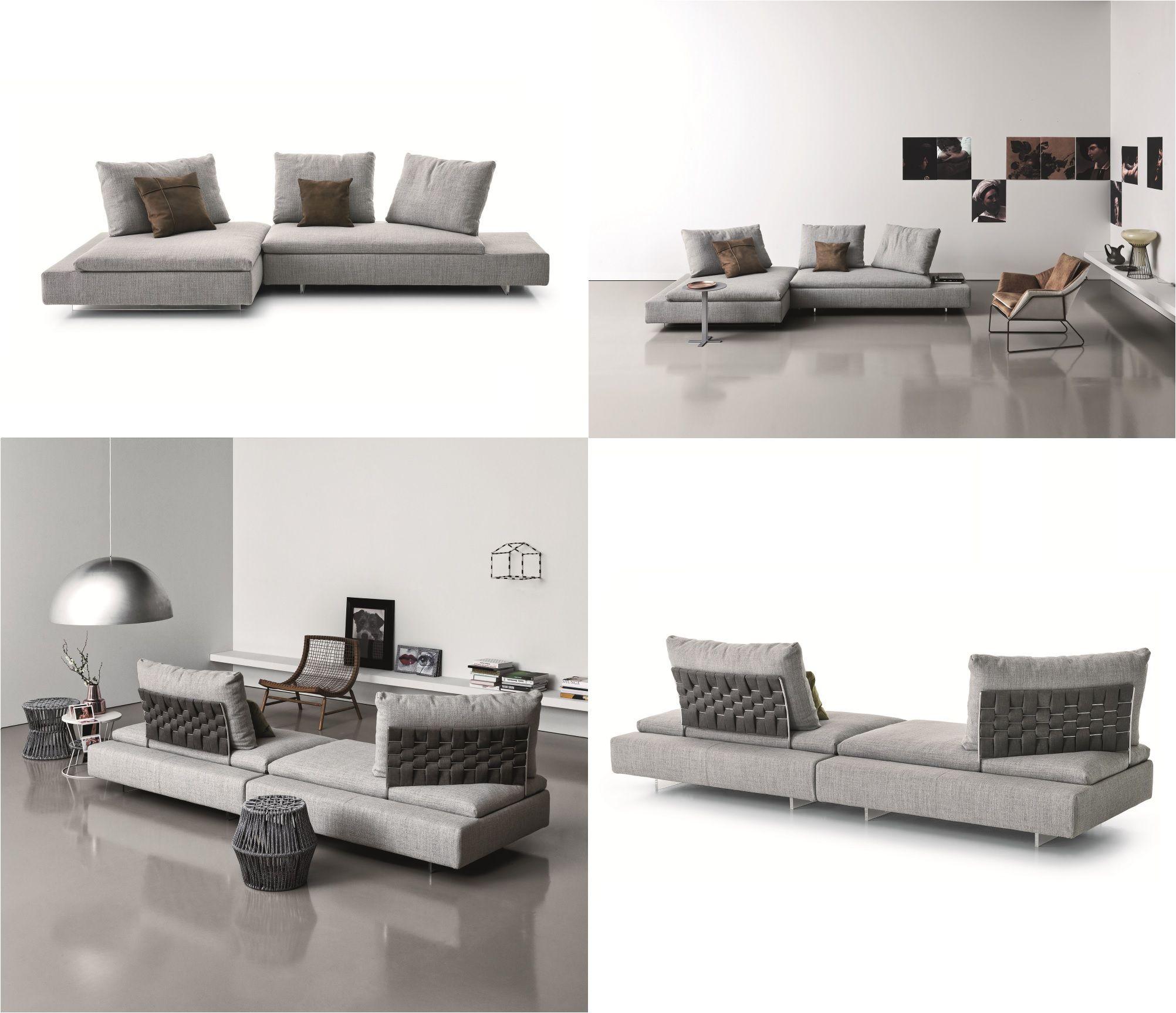 Limes Collection Sectional Convertible Fabric Sofa Saba Italia