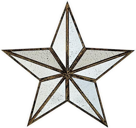 Ari Metal Star - Wall Mirrors - Home Decor | HomeDecorators.com  layered in front of large mirror  #HomeDecorators