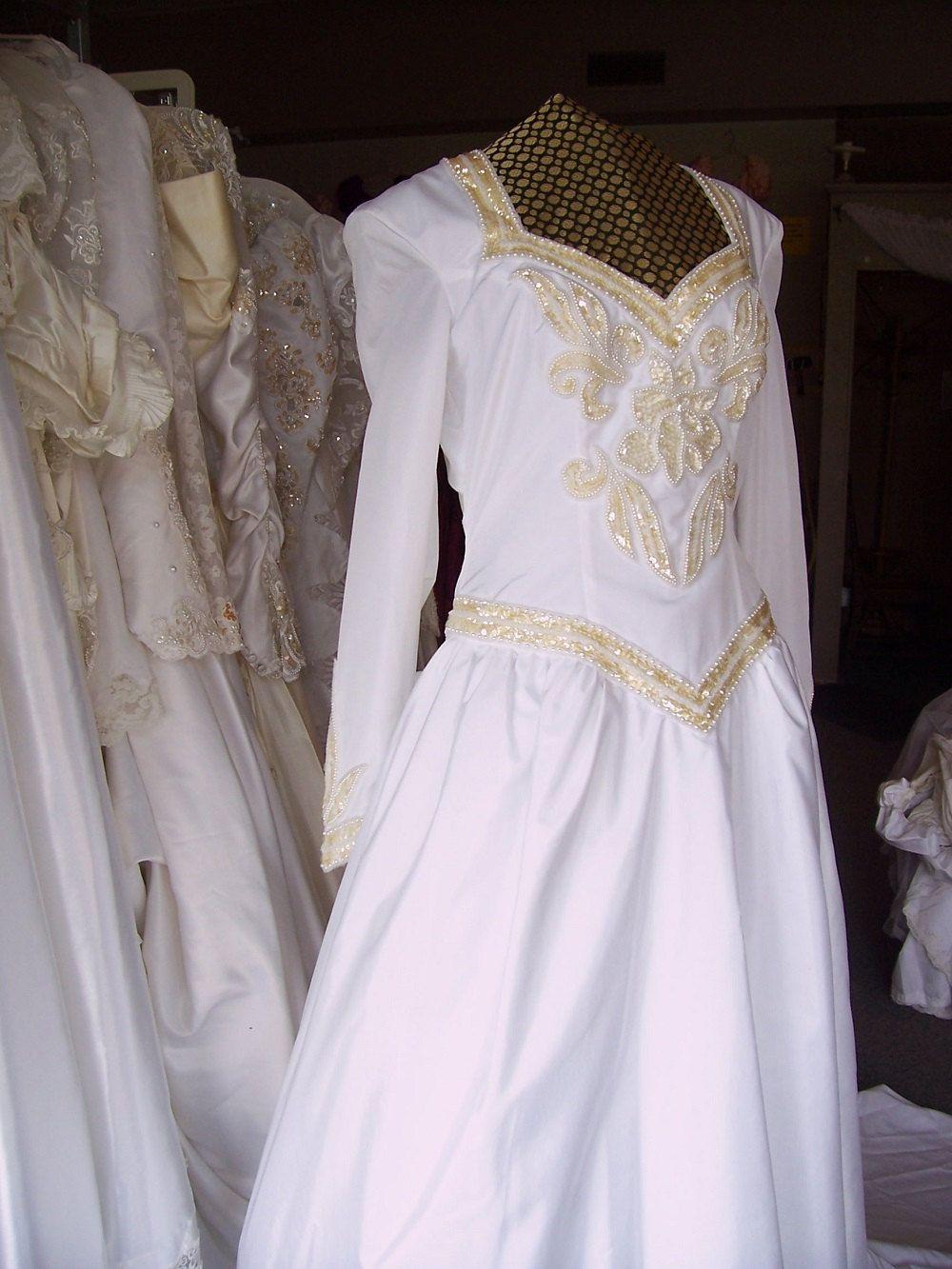 Vintage Medieval style Wedding Dress with Crinoline Slip by ...
