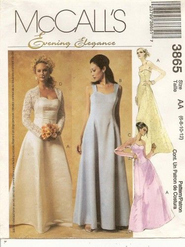 Formal Shrug Pattern | Formal Shrug Dress Sewing Pattern Size 6 ...
