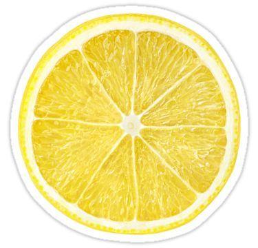 Slice Of Lemon Sticker Drinking Hot Lemon Water Fruit Hot Lemon Water