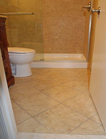 Small Bathroom Tile Designs glass frame less shower door & Small Bathroom Tile Designs glass frame less shower door | Homes ...