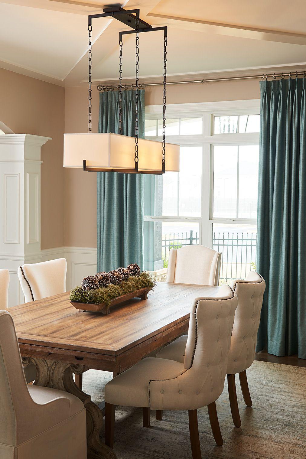 Dining Room Lighting, Linear Chandelier Dining Room
