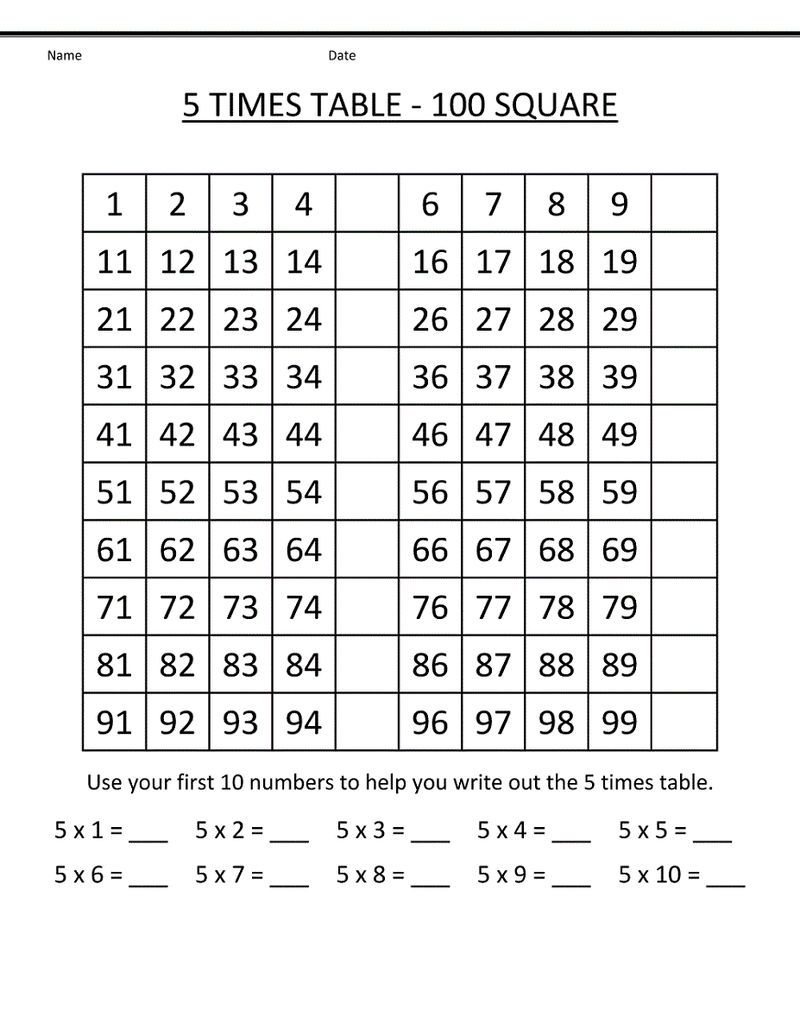 23 Times Table Tables Worksheet See the category to find