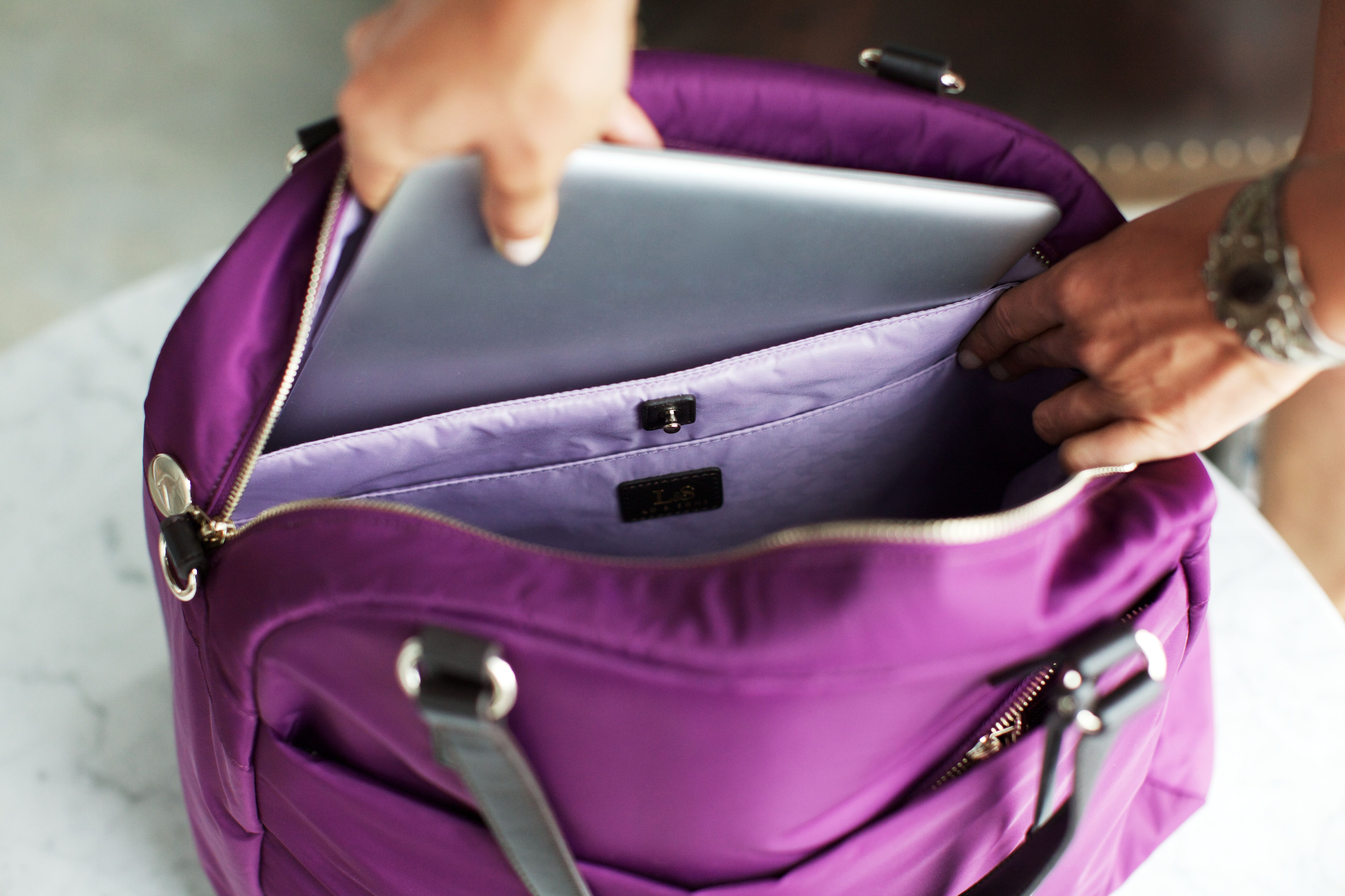 Lo  Sons - The O.G. travel bag in plum