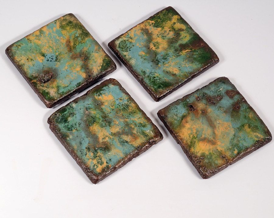 Decorative Tile Coasters Adorable Handcrafted Drink Coasters Set Of 4 Painted 4X4 Natural Stone Design Decoration