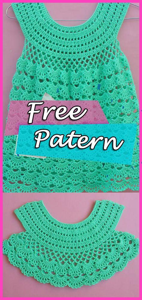 Crochet Free Pattern Baby Dress Lacy Frock – YARN OF CROCHET