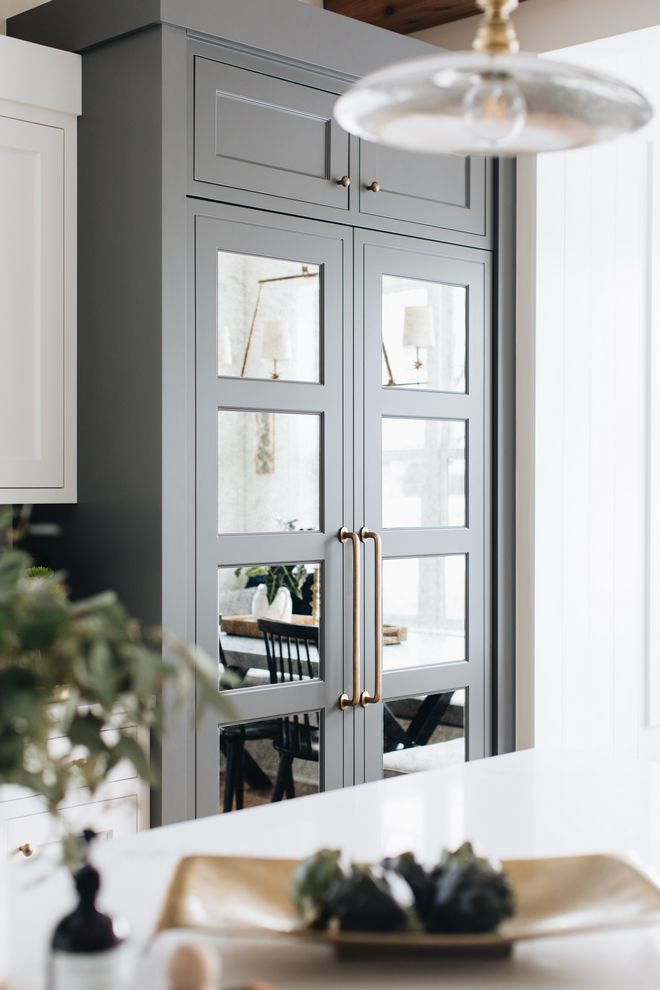 Kendall Charcoal by Benjamin Moore paneled refrigerator ...