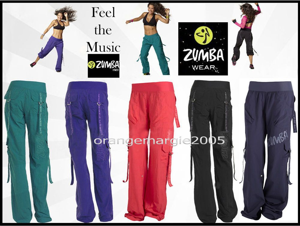 """ZUMBA 2Pc.SET S M L XL Cargo Pants /& /""""JOIN THE PARTY/"""" Racer back Tank Top Rare"""