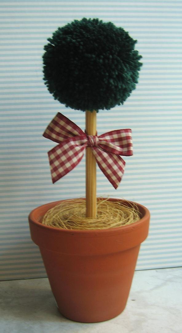 decoración para el hogar,maceta con arbolito de venta en... http://molypatch.jimdo.com