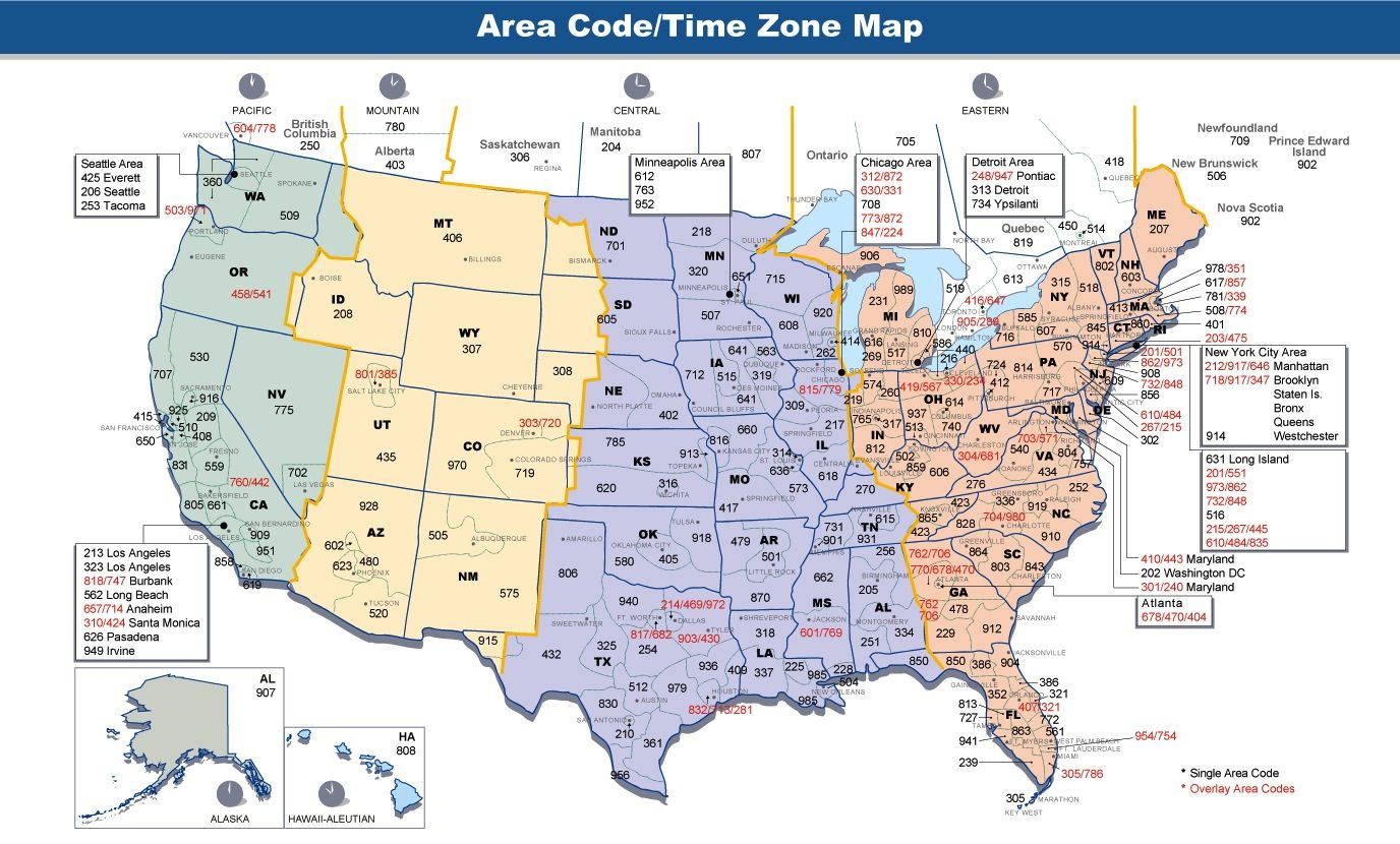 Us Time Zones Time In Usa Right Now Time Zone Map Time Zones Us Area Codes