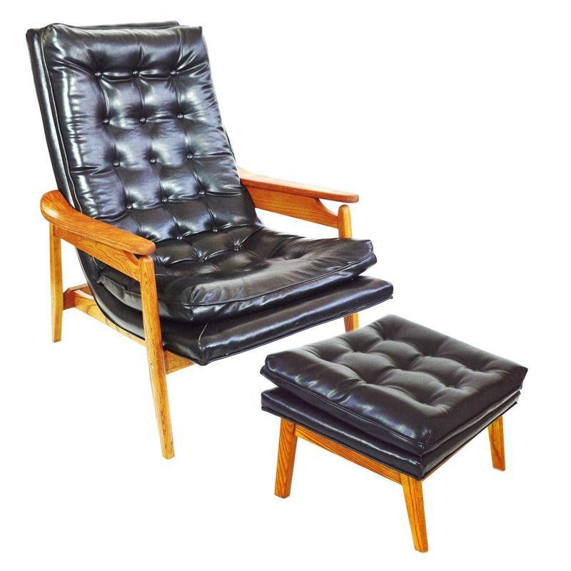 Milo Baughman Scoop Style Lounge Chair And Ottoman   $1,200 Est. Retail    $655 On